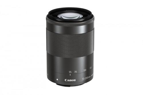 Canon EOS M -kameralle uusi zoom-teleobjektiivi EF-M 55–200 mm f/4,5–6,3 IS STM